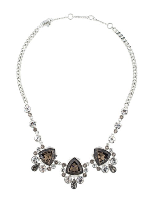 Givenchy Crystal Collar Necklace Silver