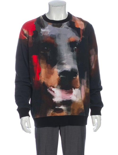 Givenchy Graphic Print Crew Neck Sweatshirt Black