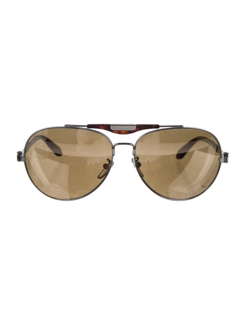 Givenchy Aviator Mirrored Sunglasses Silver
