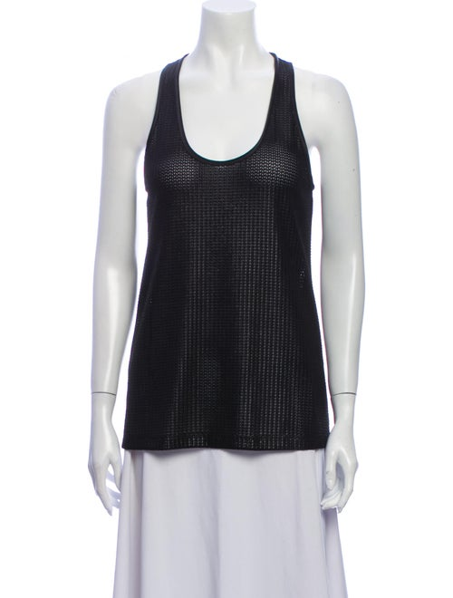 Givenchy Scoop Neck Sleeveless Top Black