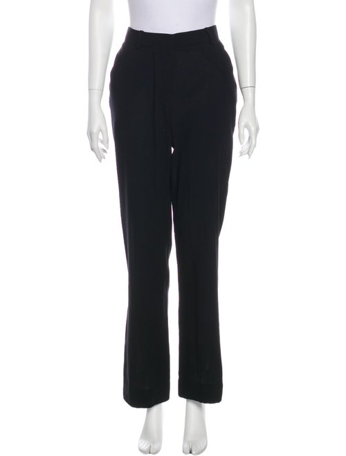 Givenchy Wool Straight Leg Pants Wool