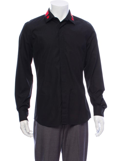 Givenchy Long Sleeve Dress Shirt Black