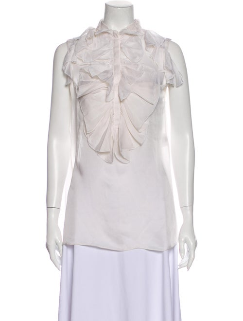 Givenchy 2011 Silk Blouse White