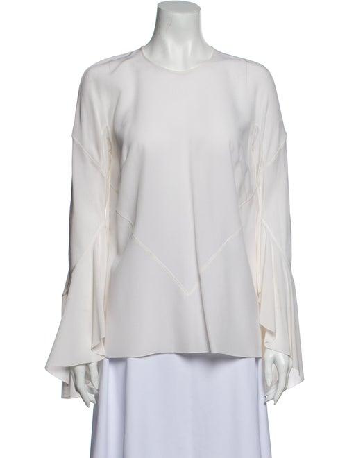 Givenchy Silk Crew Neck Blouse White