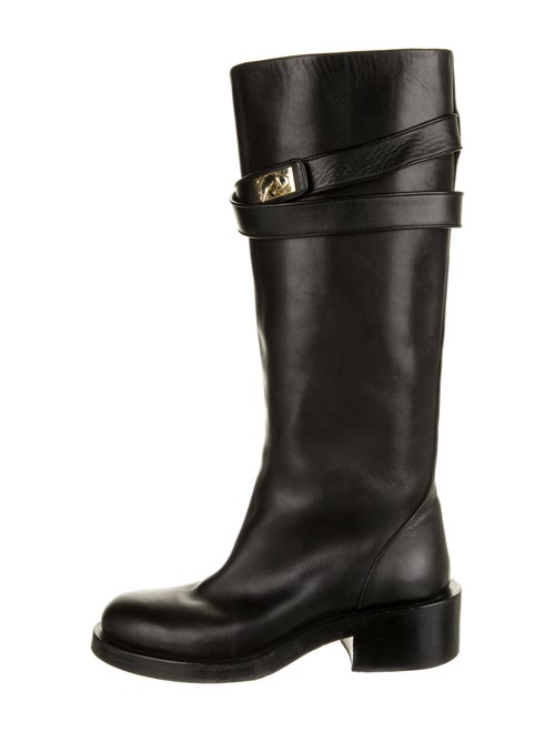 Givenchy Leather Riding Boots Black