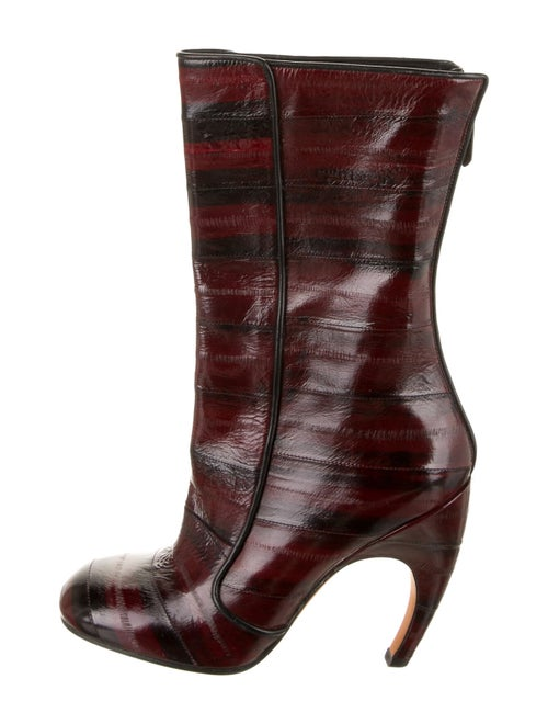 Givenchy Leather Boots Red