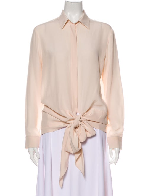 Givenchy Silk Long Sleeve Blouse Pink