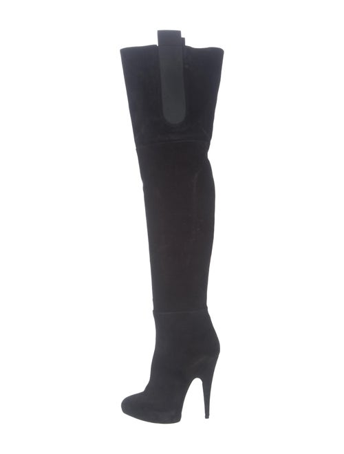 Givenchy Suede Over-The-Knee Boots Black