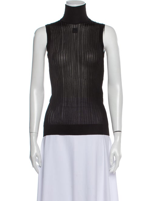 Givenchy Turtleneck Sleeveless Top w/ Tags Black