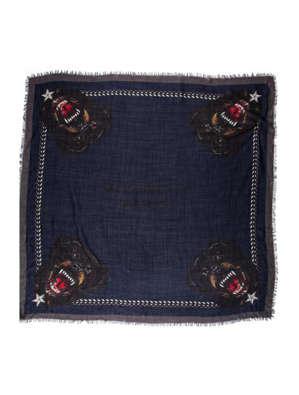 Givenchy Silk Printed Scarf Blue - image 1