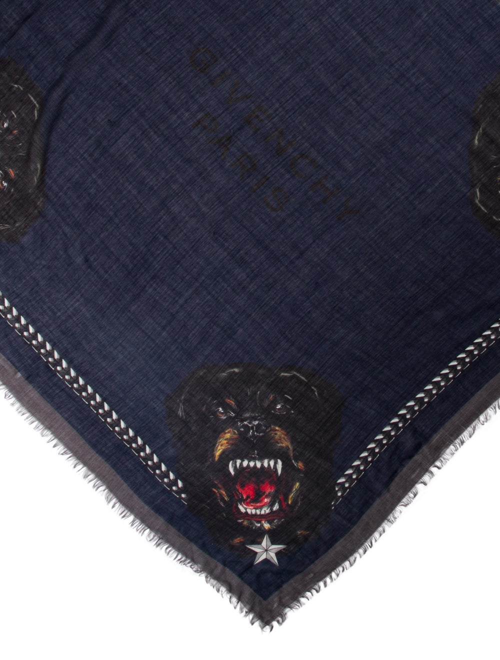 Givenchy Silk Printed Scarf Blue - image 2