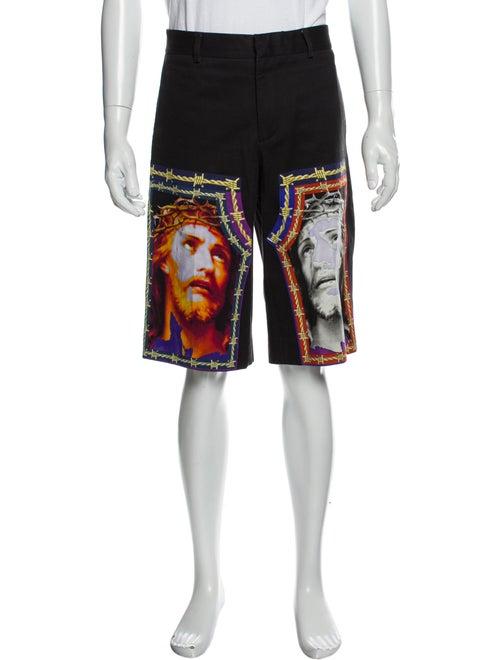 Givenchy Graphic Print Jogger Shorts Grey