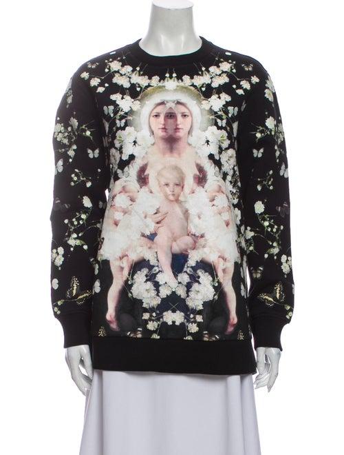Givenchy Printed Crew Neck Sweatshirt Black