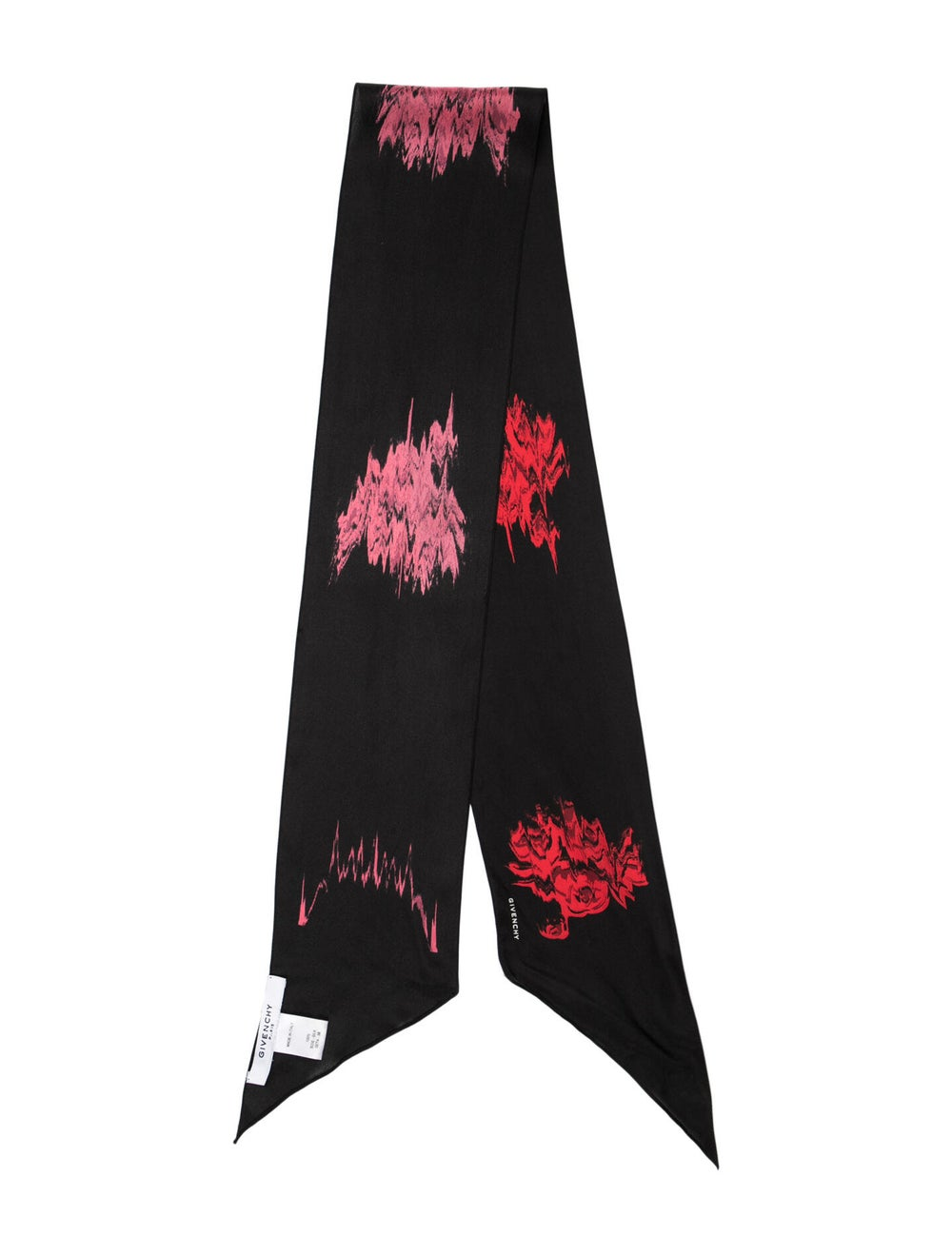 Givenchy Silk Printed Scarf Black - image 1