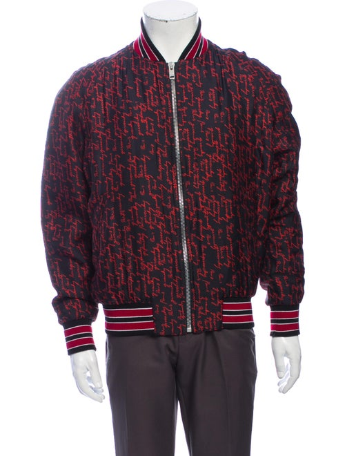 Givenchy Silk Printed Bomber Jacket Red - image 1