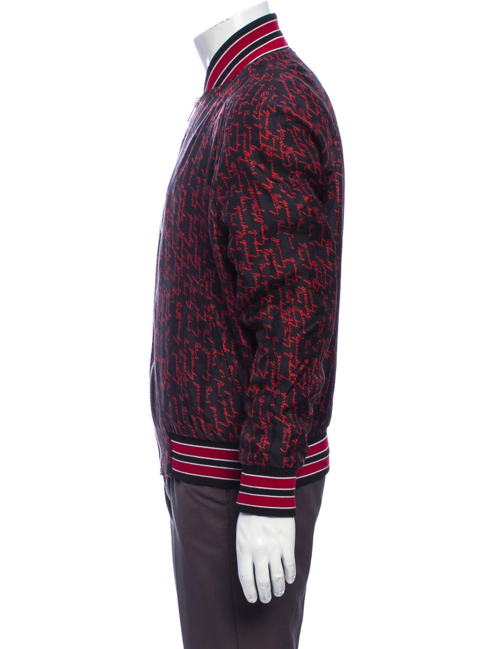 Givenchy Silk Printed Bomber Jacket Red - image 2