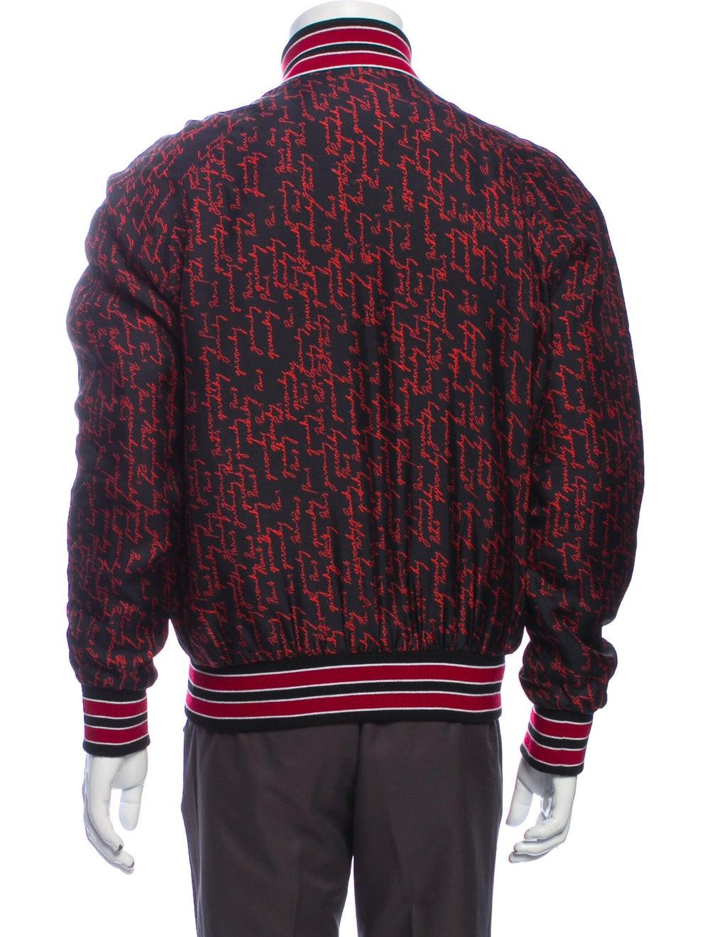 Givenchy Silk Printed Bomber Jacket Red - image 3