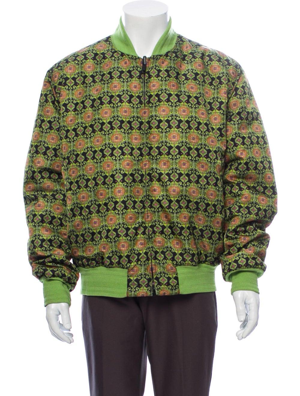 Givenchy Printed Bomber Jacket Green - image 1