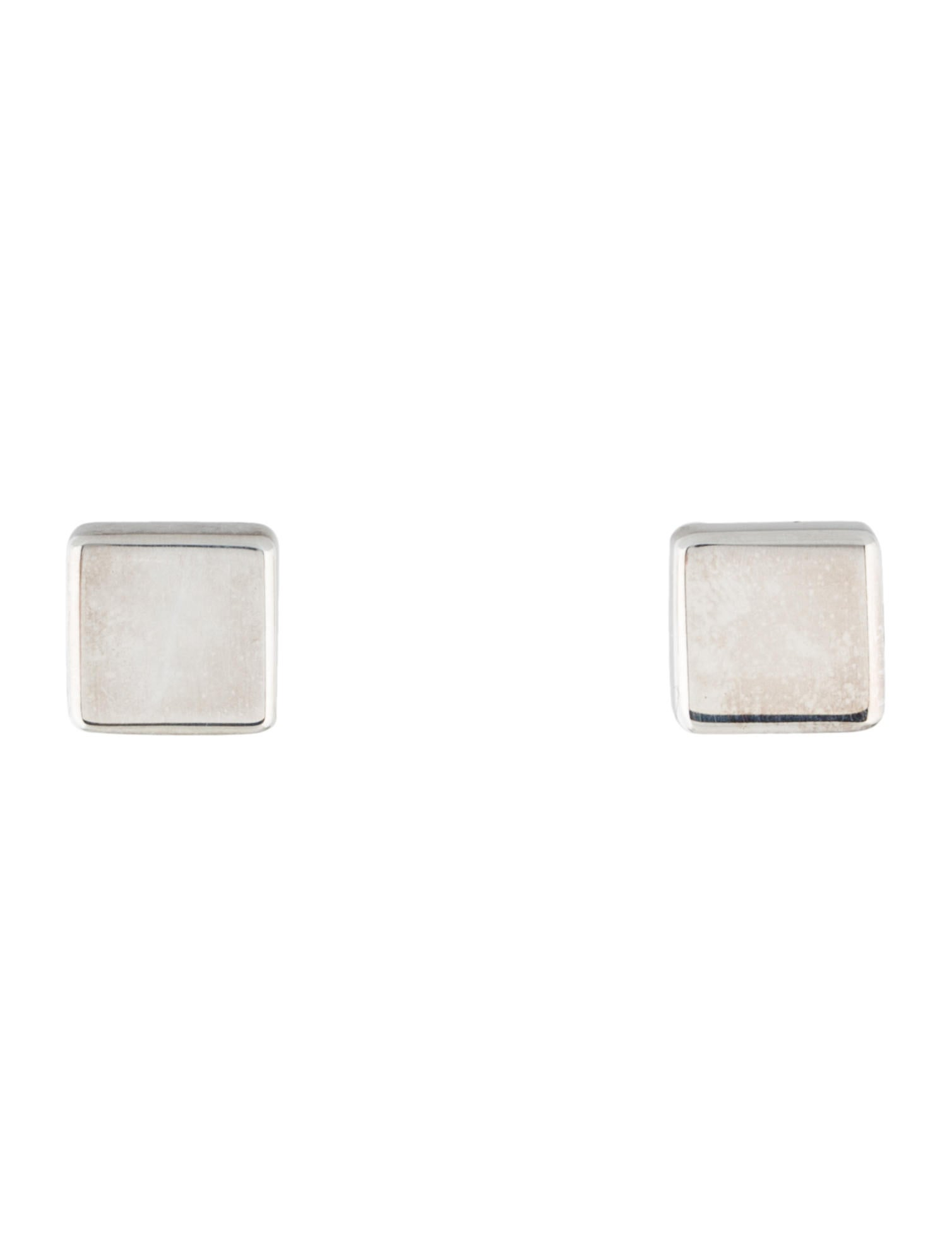 7 For All Mankind Flat Square Stud Earrings In Sterling Silver oXPMQU