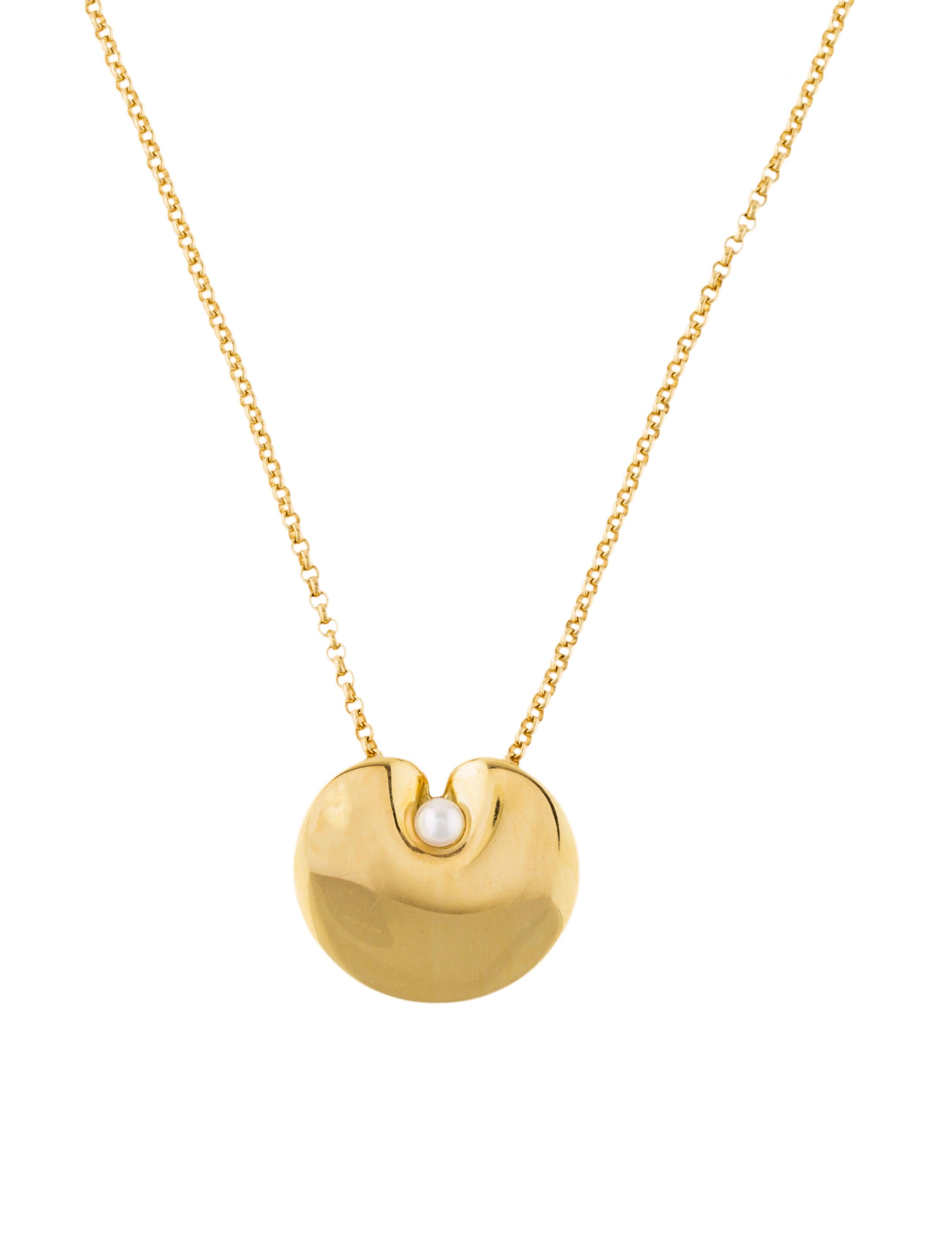 Georg Jensen X Nanna Ditzel 18K Pearl Pendant Necklace ...