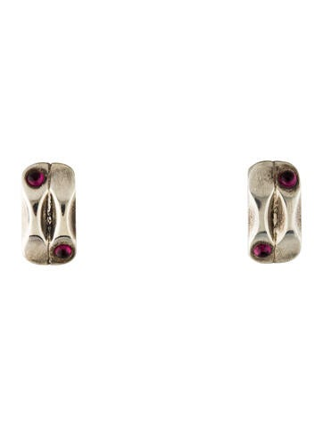 Garnet Clip On Earrings