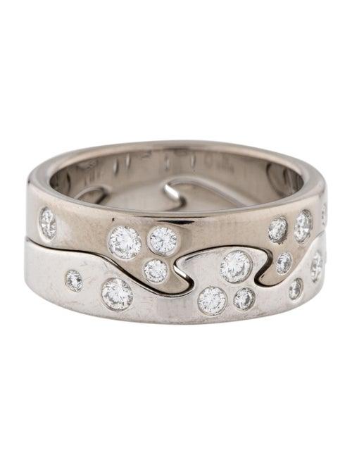 Georg Jensen 18K Diamond Fusion 2Piece Ring White