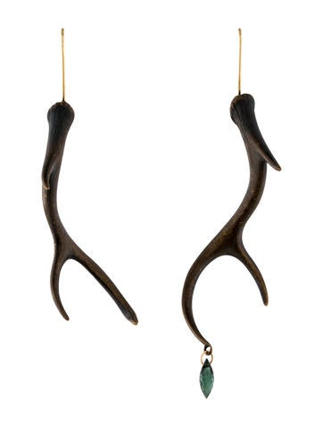 Gabriella Kiss 14k Tourmaline Antler Drop Earrings