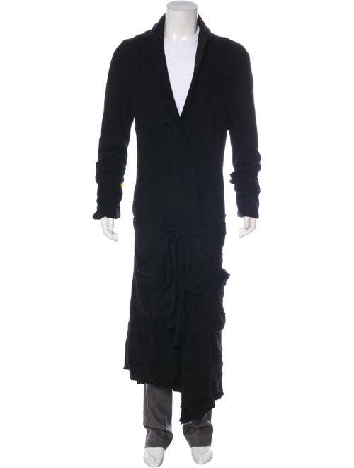 Greg Lauren Cashmere Patchwork Smoking Robe black