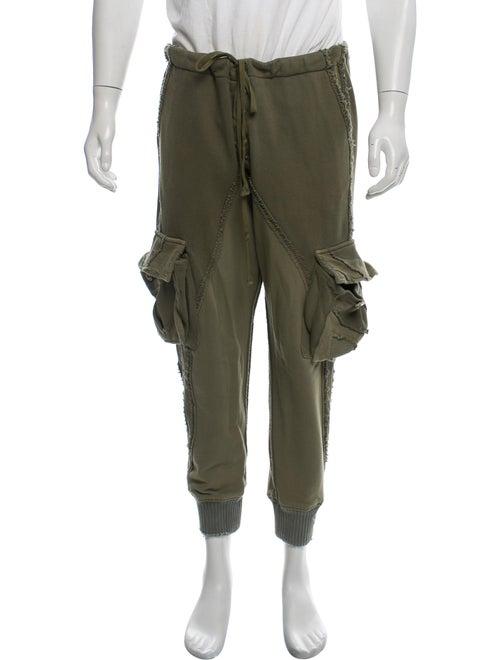 Greg Lauren Slim Lounge Pants green