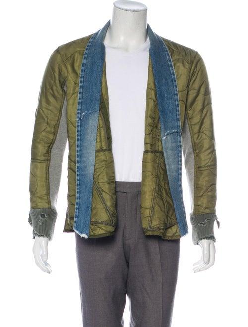 Greg Lauren Army Liner Puffy Kimono w/ Tags green