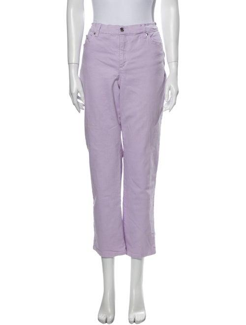 Gloria Vanderbilt Mid-Rise Straight Leg Jeans Purp