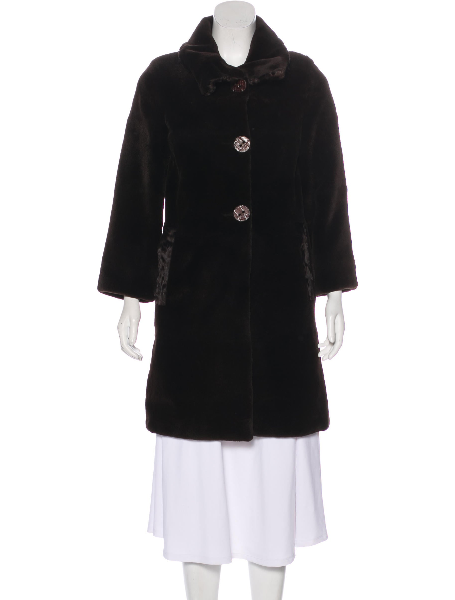 Clearance Manchester Great Sale Exclusive Giuliana Teso Sheared Mink & Broadtail Coat soYCwGAz11