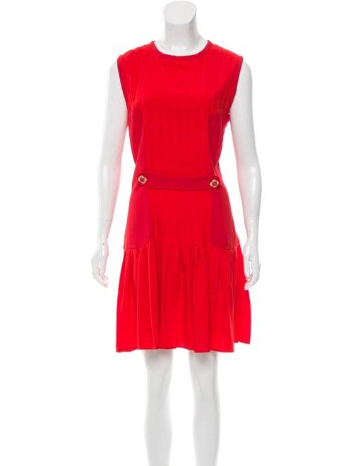Giulietta Pleated Silk Dress Red