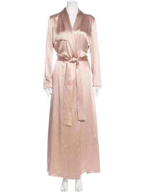 Galvan Silk Trench Coat Pink - image 1