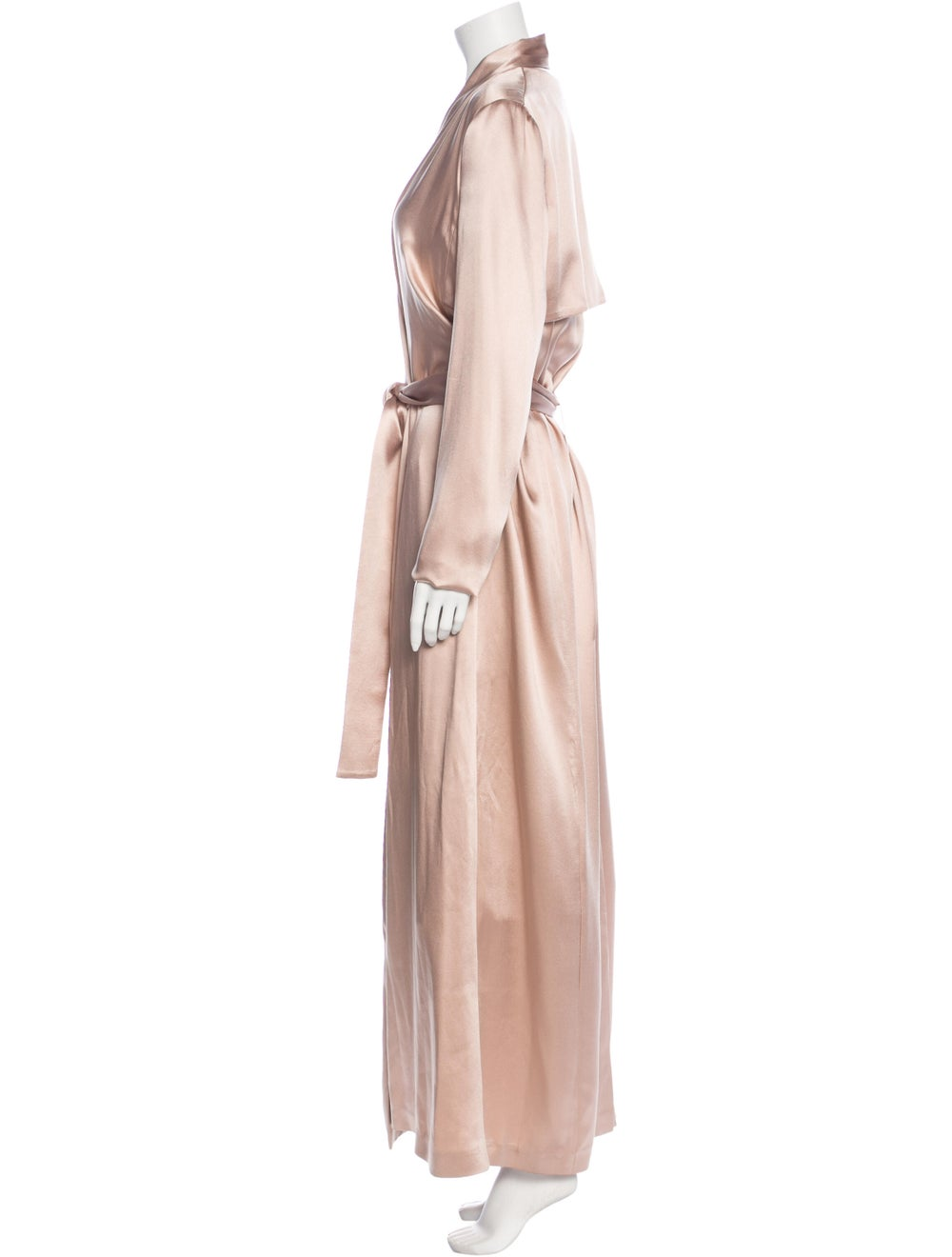Galvan Silk Trench Coat Pink - image 2