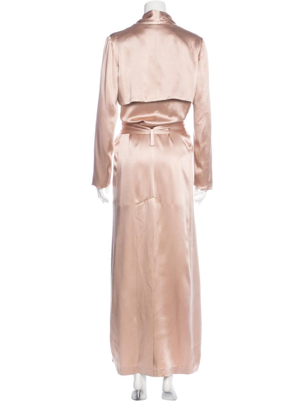 Galvan Silk Trench Coat Pink - image 3