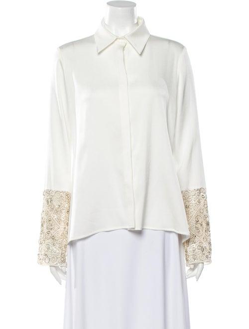 Galvan Long Sleeve Button-Up Top