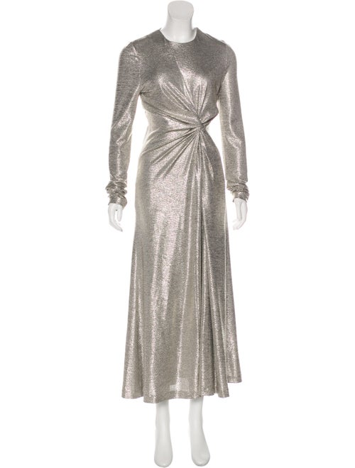 Galvan Metallic Maxi Dress Metallic