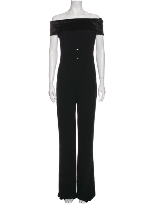 Galvan Off-The-Shoulder Jumpsuit Black