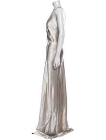 Galvan One-Shoulder Long Dress