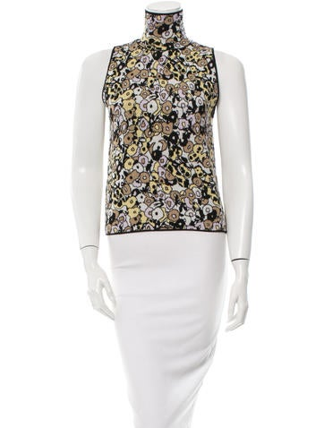 Giamba Printed Sleeveless Top None
