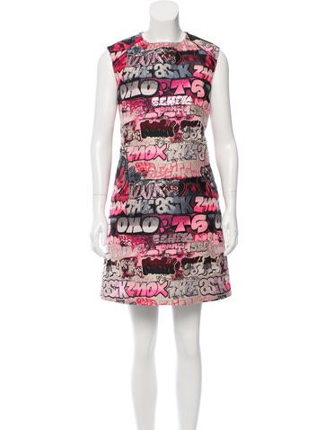 Giamba Jacquard Graffiti Dress w/ Tags