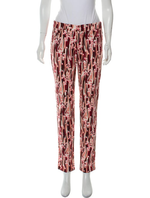 Giamba Mid-Rise Printed Jeans Pink