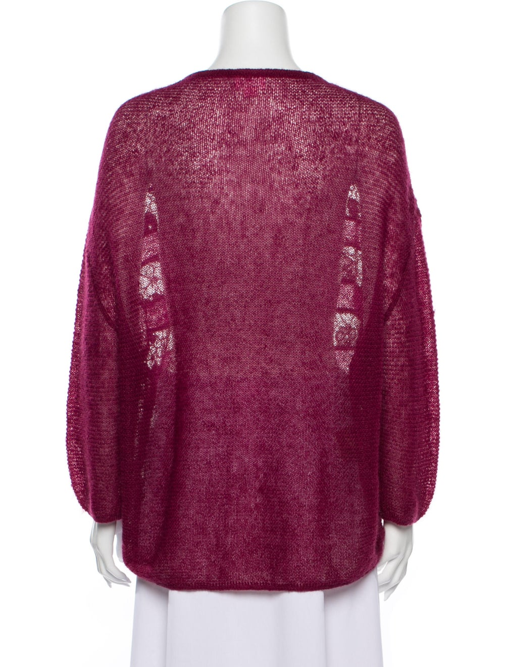 Giamba Lace Pattern Scoop Neck Sweater - image 3