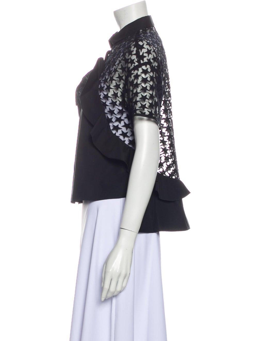 Giamba Short Sleeve Blouse Black - image 2
