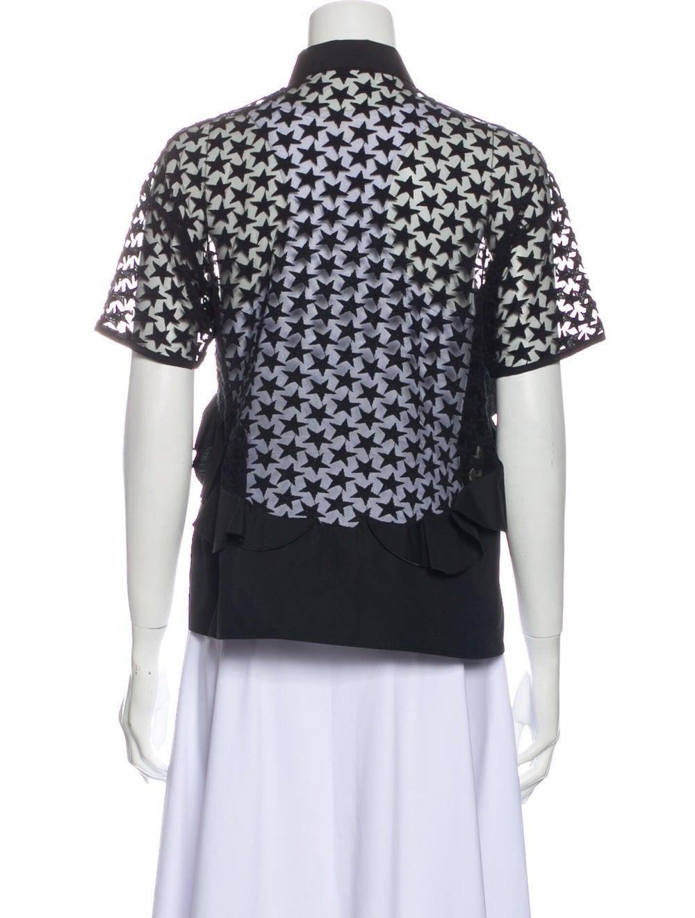 Giamba Short Sleeve Blouse Black - image 3