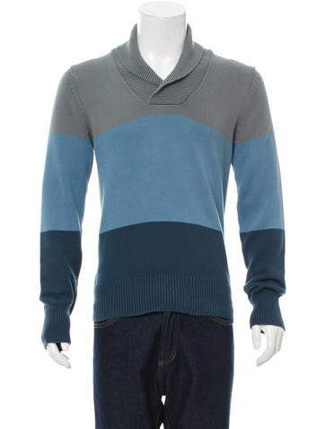 Gant x Michael Bastian Shawl Neck Rib Knit-Trimmed Sweater None