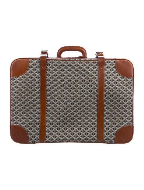 Goyard Vintage Goyardine Suitcase blue