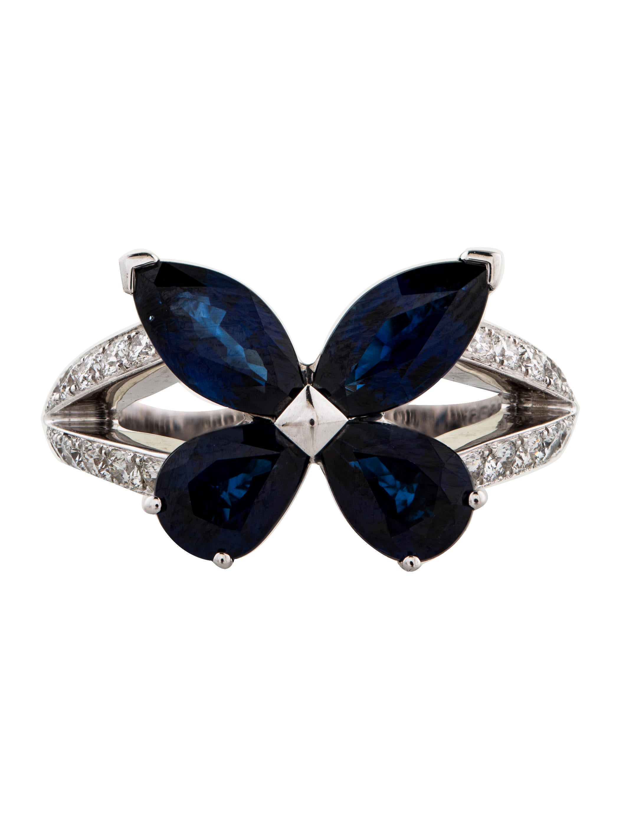 white classic a pav ring diamond and butterfly sapphire parted gold band collections graff with