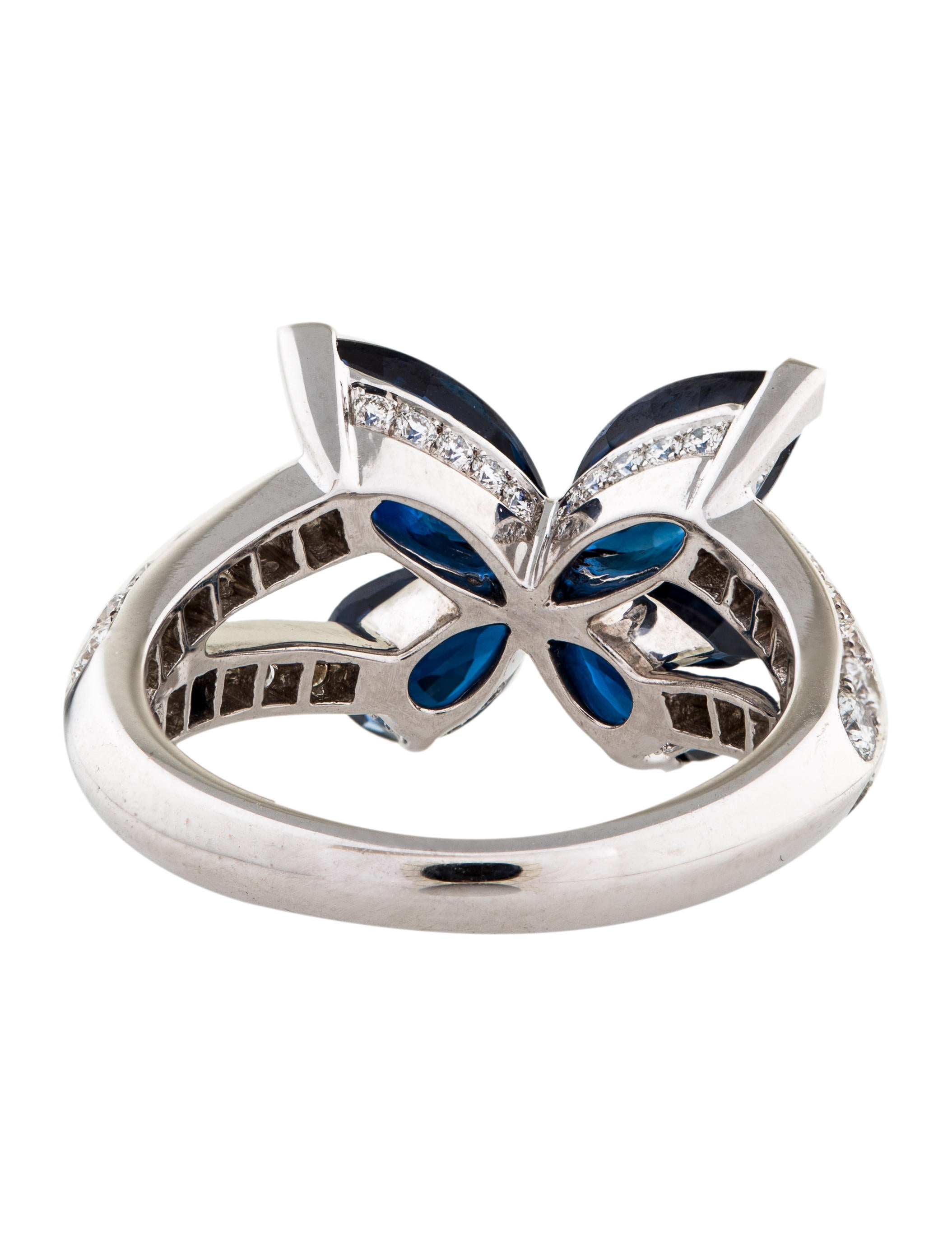 White Gold Diamond Butterfly Ring